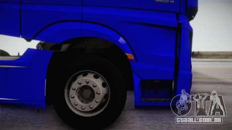 Mercedes-Benz Actros Mp4 6x4 v2.0 Gigaspace para GTA San Andreas vista direita