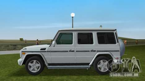 Mercedes-Benz G500 W463 2008 para GTA Vice City deixou vista