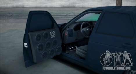 VAZ 2112 Bpan para GTA San Andreas traseira esquerda vista