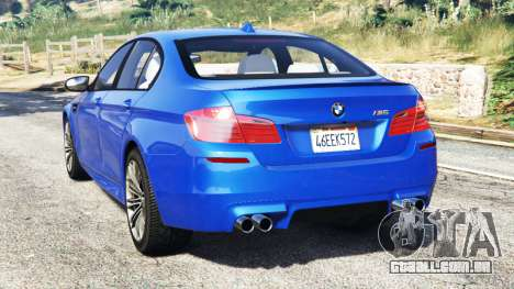 GTA 5 BMW M5 (F10) 2012 [replace] traseira vista lateral esquerda