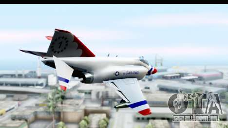 F-4 Phantom II Thunderbirds para GTA San Andreas vista direita