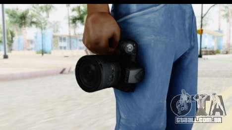 Nikon D600 para GTA San Andreas terceira tela