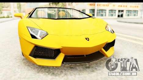 Lamborghini Aventador LP700-4 Roadster v2 para vista lateral GTA San Andreas