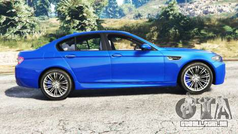 GTA 5 BMW M5 (F10) 2012 [replace] vista lateral esquerda