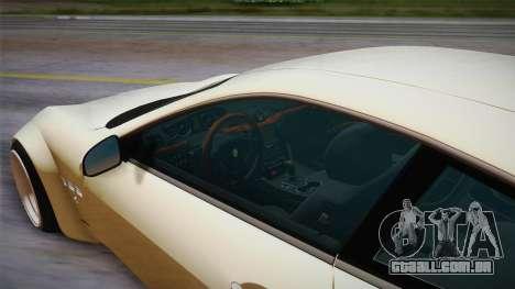 Maserati Gran Turismo Rocket Bunny para GTA San Andreas vista traseira