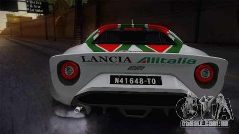 Lancia Stratos para GTA San Andreas vista traseira