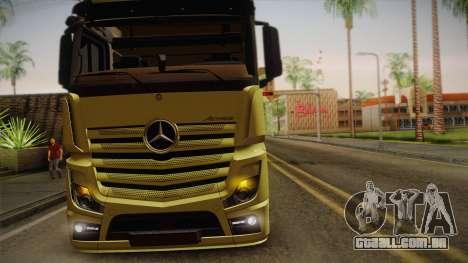 Mercedes-Benz Actros Mp4 v2.0 Tandem Big para GTA San Andreas vista interior