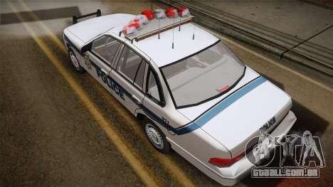 Ford Crown Victoria 1997 El Quebrados Police para GTA San Andreas traseira esquerda vista