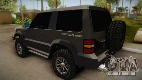 Mitsubishi Pajero 3-Door Off-Road para GTA San Andreas esquerda vista
