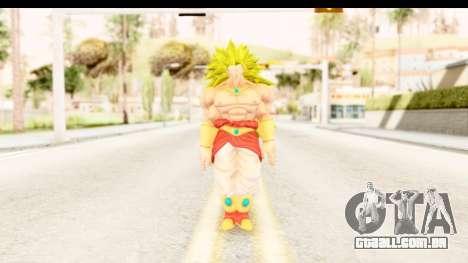 Dragon Ball Xenoverse Broly SSJ3 para GTA San Andreas segunda tela