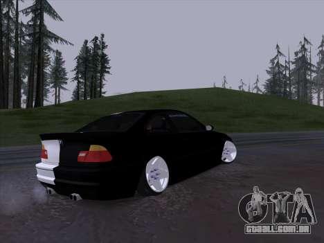 BMW E46 Good and Evil para GTA San Andreas vista traseira