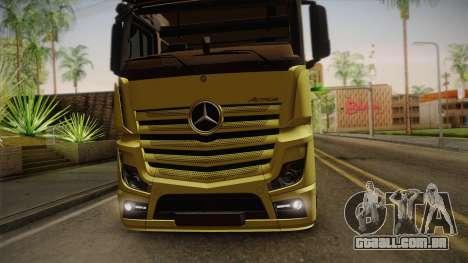 Mercedes-Benz Actros Mp4 v2.0 Tandem Big para GTA San Andreas vista traseira