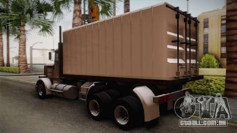 GTA 4 Flatbed para GTA San Andreas esquerda vista