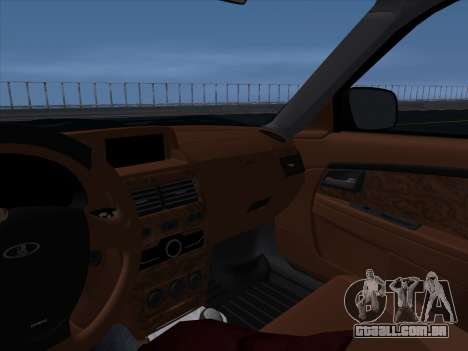 VAZ 2170 STANCE para GTA San Andreas interior