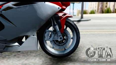 MV Agusta F4 para GTA San Andreas vista traseira