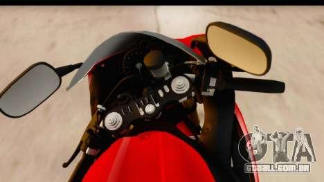 Yamaha R1 2014 para GTA San Andreas vista traseira
