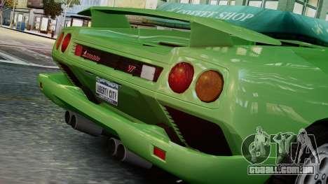 Lamborghini Diablo VT 1990 para GTA 4 vista de volta