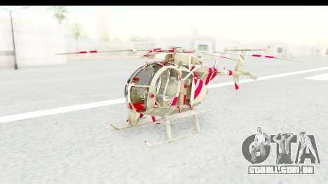 Smaga Sparrow Helis Military Version para GTA San Andreas vista direita