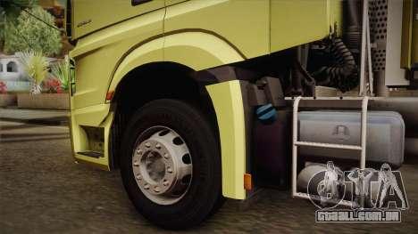 Mercedes-Benz Actros Mp4 v2.0 Tandem Big para GTA San Andreas vista direita