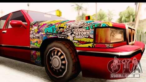 Elegant Sticker Bomb para GTA San Andreas vista traseira