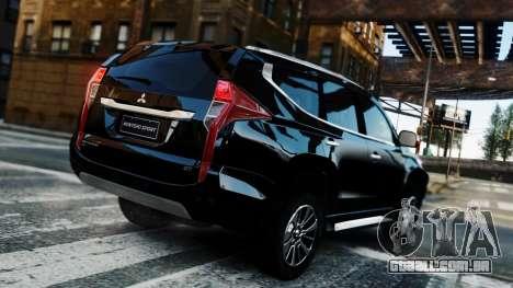 Mitsubishi Montero Sport 2016 para GTA 4 vista interior