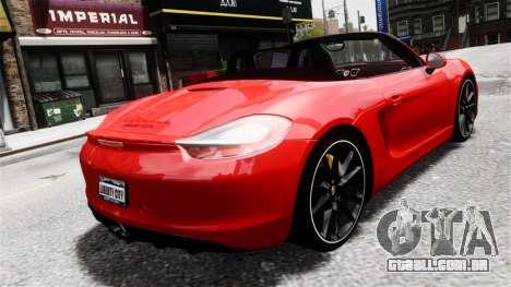 Porsche Boxster GTS 2014 para GTA 4 esquerda vista