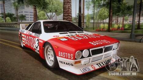 Lancia Rally 037 Stradale (SE037) 1982 IVF Dirt2 para GTA San Andreas esquerda vista