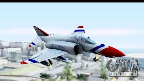 F-4 Phantom II Thunderbirds para GTA San Andreas traseira esquerda vista