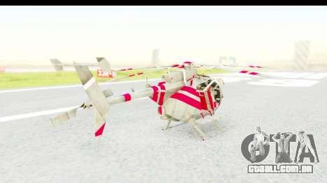 Smaga Sparrow Helis Military Version para GTA San Andreas esquerda vista