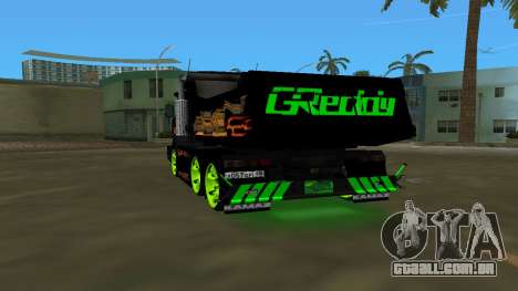 KAMAZ 65115 TUNING para GTA Vice City vista traseira esquerda