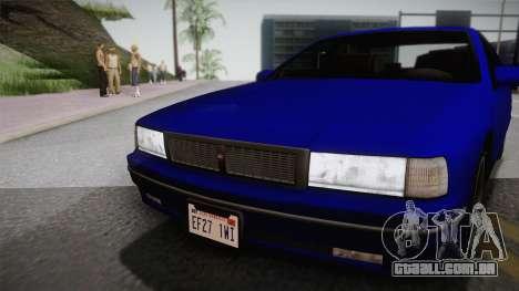 Declasse Premier 1992 IVF para GTA San Andreas traseira esquerda vista