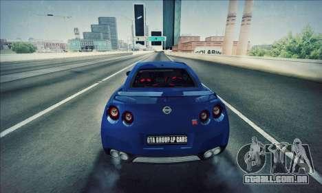 Nissan GT-R R35 Premium para GTA San Andreas esquerda vista