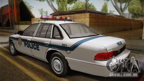 Ford Crown Victoria 1997 El Quebrados Police para GTA San Andreas esquerda vista