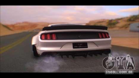 Ford Mustang 2015 Liberty Walk LP Performance para GTA San Andreas esquerda vista