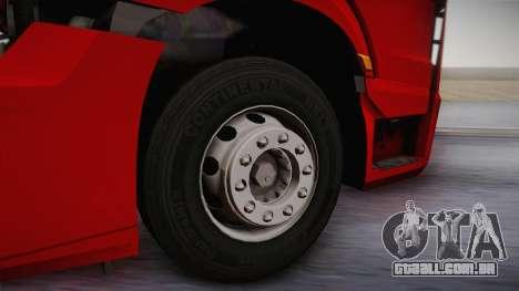 Mercedes-Benz Actros Mp4 6x4 v2.0 Bigspace v2 para GTA San Andreas vista traseira