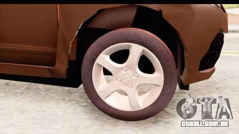Honda Brio para GTA San Andreas vista traseira