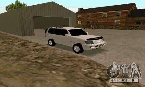 Toyota Land Cruiser 105 para GTA San Andreas esquerda vista