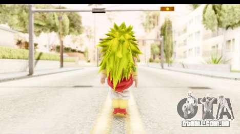 Dragon Ball Xenoverse Broly SSJ3 para GTA San Andreas terceira tela