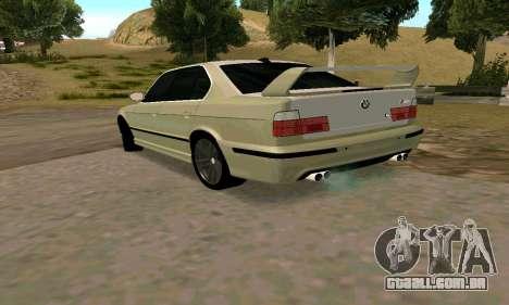 BMW M5 E34 para GTA San Andreas traseira esquerda vista