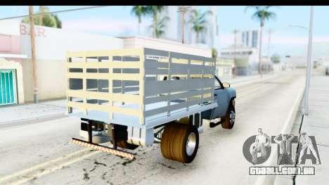Chevrolet Silverado 2011 para GTA San Andreas traseira esquerda vista