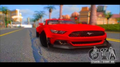 Ford Mustang 2015 Liberty Walk LP Performance para GTA San Andreas vista direita