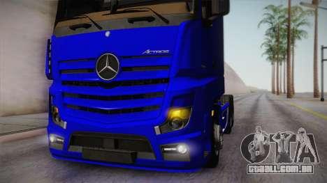 Mercedes-Benz Actros Mp4 6x4 v2.0 Gigaspace para GTA San Andreas vista traseira