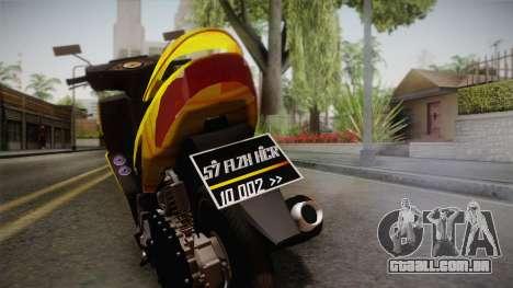 Honda Vario Yellow Shines para GTA San Andreas traseira esquerda vista