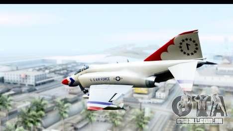 F-4 Phantom II Thunderbirds para GTA San Andreas esquerda vista