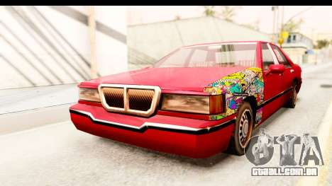 Elegant Sticker Bomb para GTA San Andreas vista direita