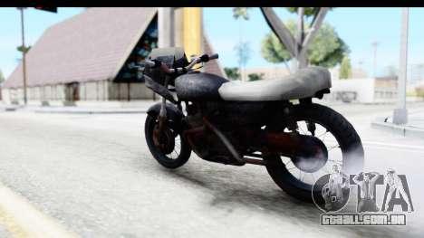 Kawasaki KZ900 1973 Mad Max 2 para GTA San Andreas esquerda vista