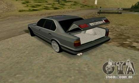 BMW 535i e34 para GTA San Andreas vista interior