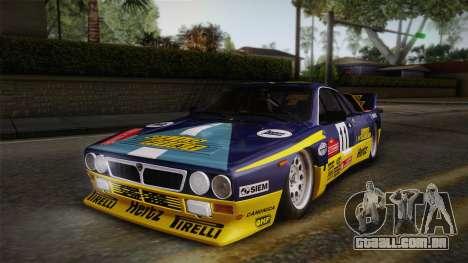 Lancia Rally 037 Stradale (SE037) 1982 IVF Dirt1 para GTA San Andreas interior