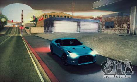 Nissan GT-R R35 Premium para GTA San Andreas vista inferior