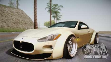 Maserati Gran Turismo Rocket Bunny para vista lateral GTA San Andreas